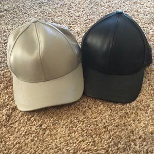Faux Leather Hats